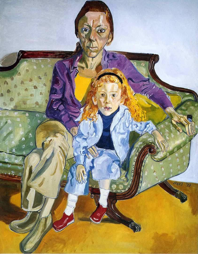 alice-neel-linda-nochlin-and-daisy-1973